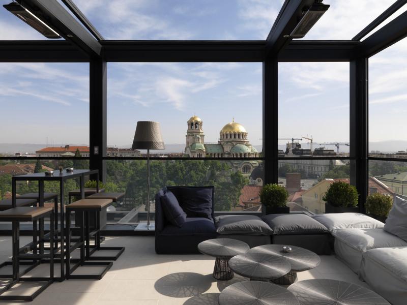 Hotel Sense Sofia rooftop bar