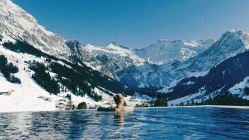 Cambrian Hotel Adelboden Switzerland infinite pool